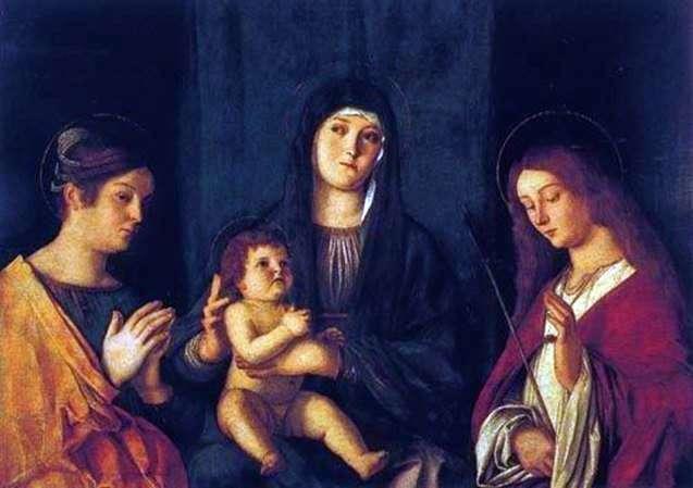 مادونا والطفل ، وسانت كاترين وسانت أورسولا   جيوفاني بيليني
