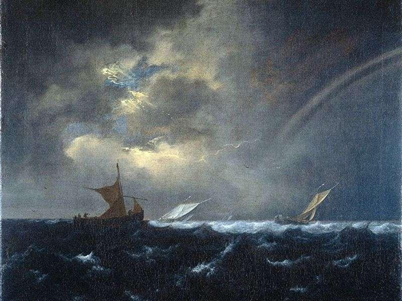 قوس قزح في البحر العاصف   يعقوب فان Ruisdal
