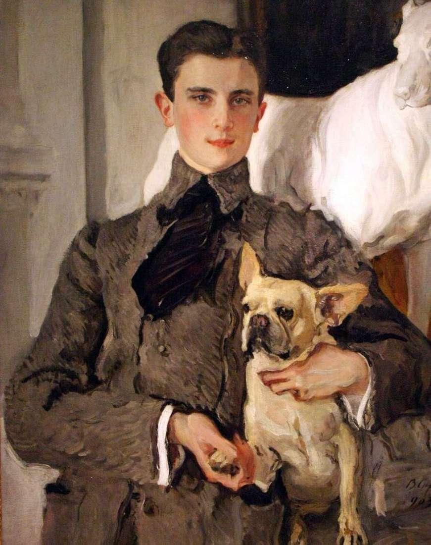 صورة للكونت ف. سوماروكوف إلستون ، فيما بعد الأمير يوسوبوف ، مع كلب   فالنتين سيروف
