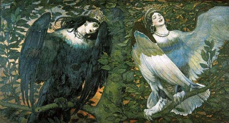 سيرين والكونوست. أغنية الفرح والحزن   V. M. Vasnetsov