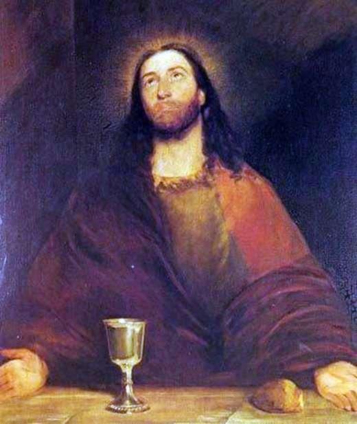 المسيح يقدس الخبز والنبيذ   جون كونستابل