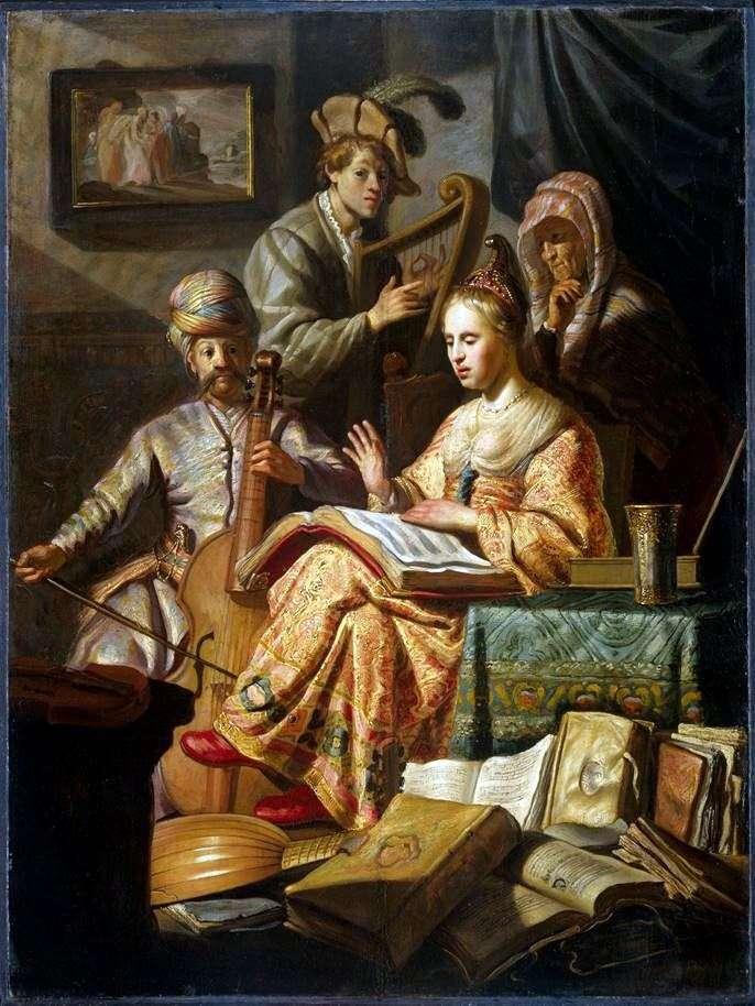 رمزية الموسيقى   رامبرانت هارمنز فان راين