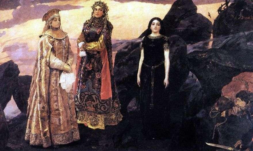 ثلاث أميرات من العالم السفلي   فيكتور Vasnetsov