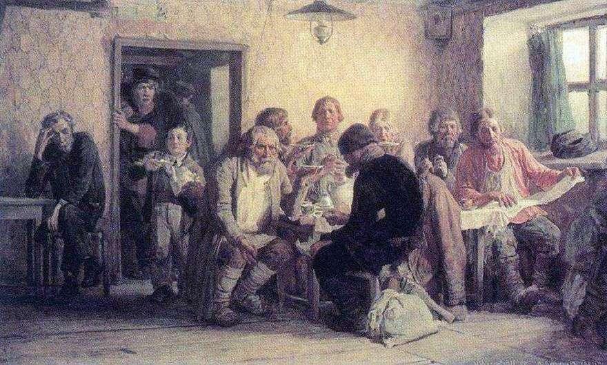 الشاي في الحانة (الحانة)   فيكتور Vasnetsov
