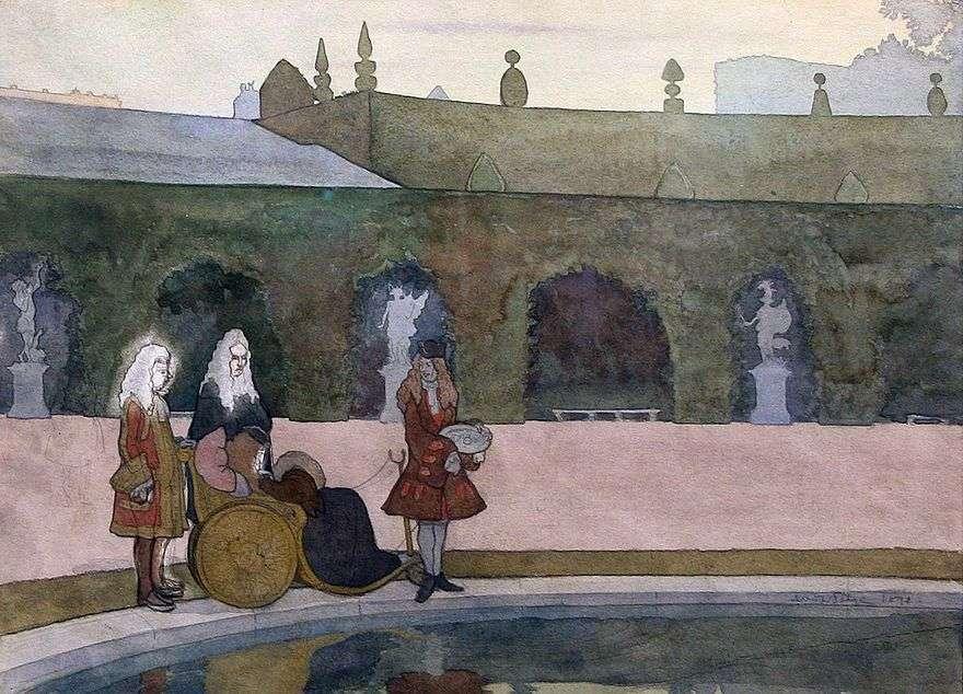 فرساي ، لويس الرابع عشر تغذية الأسماك   الكسندر بينوا
