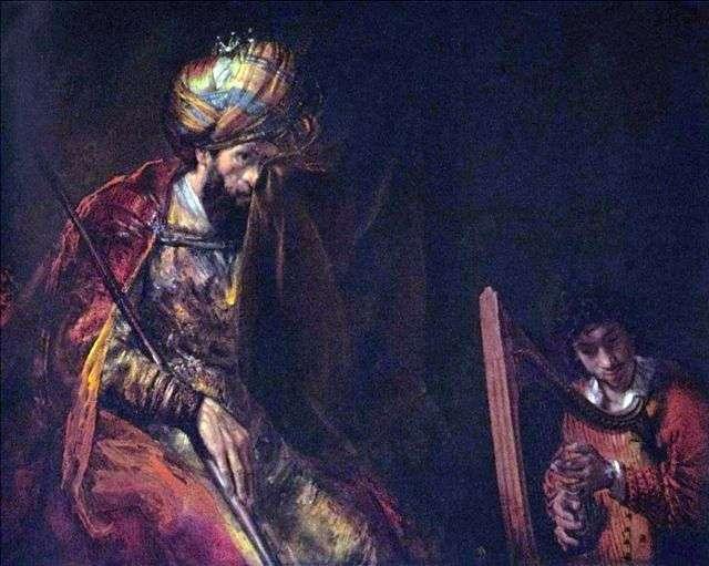 ديفيد يلعب الملك شاول   رامبرانت هارمنز فان راين