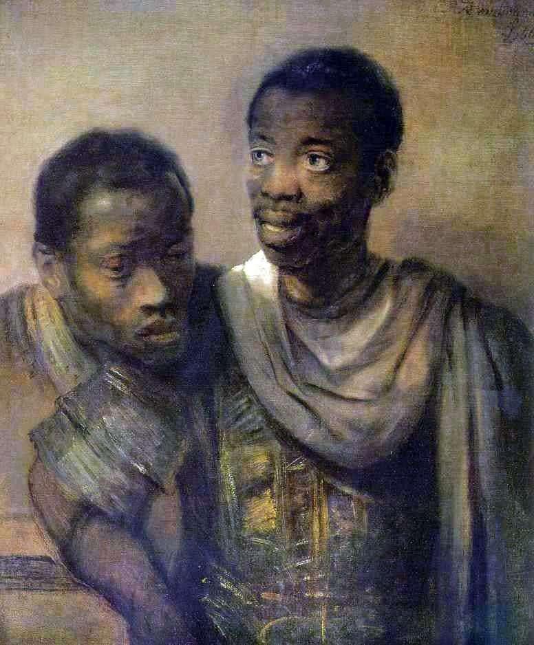 اثنين من السود   رامبرانت هارمنز فان راين