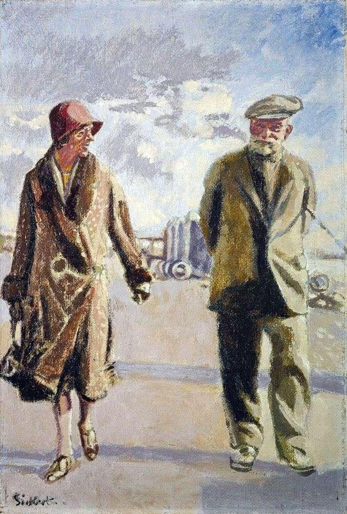 بورتريه ذاتي مع زوجته   والتر ريتشارد سيكيرت