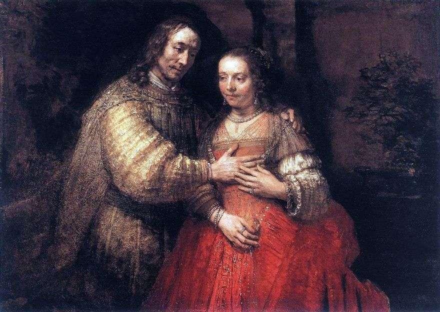 العروس اليهودية   رامبرانت هارمنز فان راين