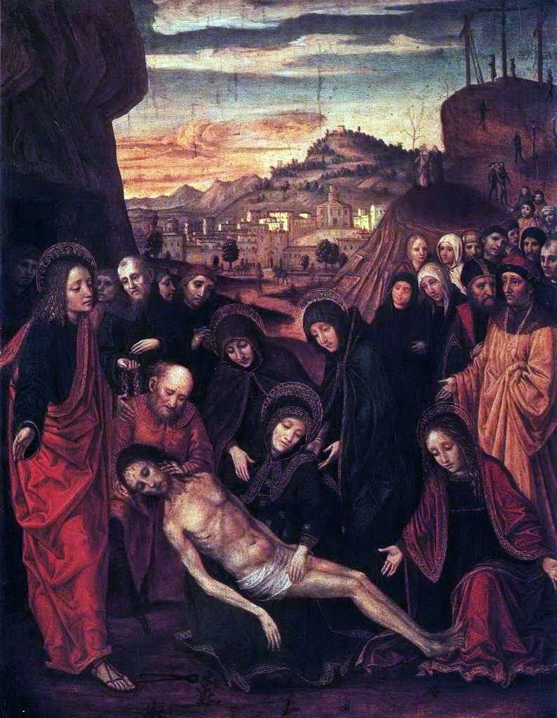 رثاء المسيح   بيرغوجنون (أمبروجيو دا فوسانو)