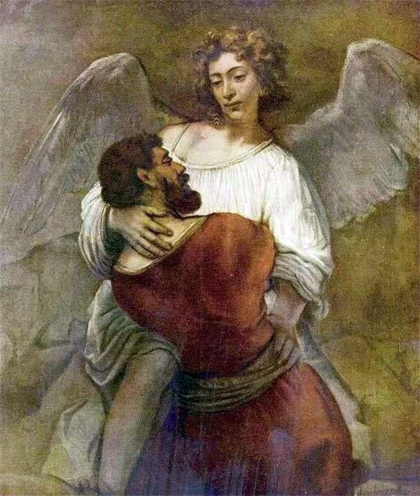يعقوب يتصارع مع الملاك   رامبرانت هارمنز فان راين