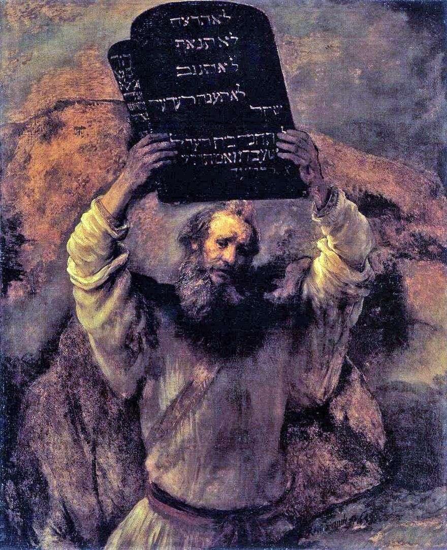 موسى بأقراص القوانين   رامبرانت هارمنز فان راين