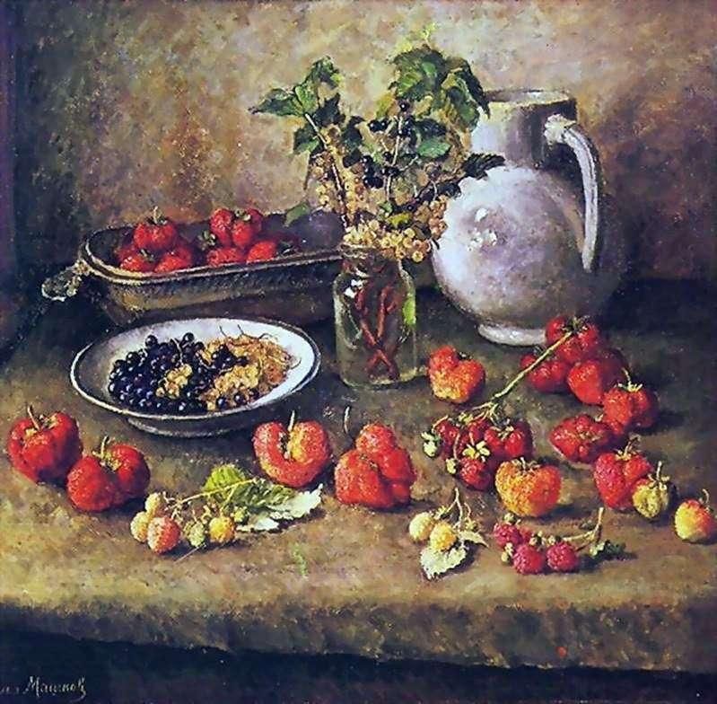 الفراولة والأبريق الأبيض   ايليا ماشكوف