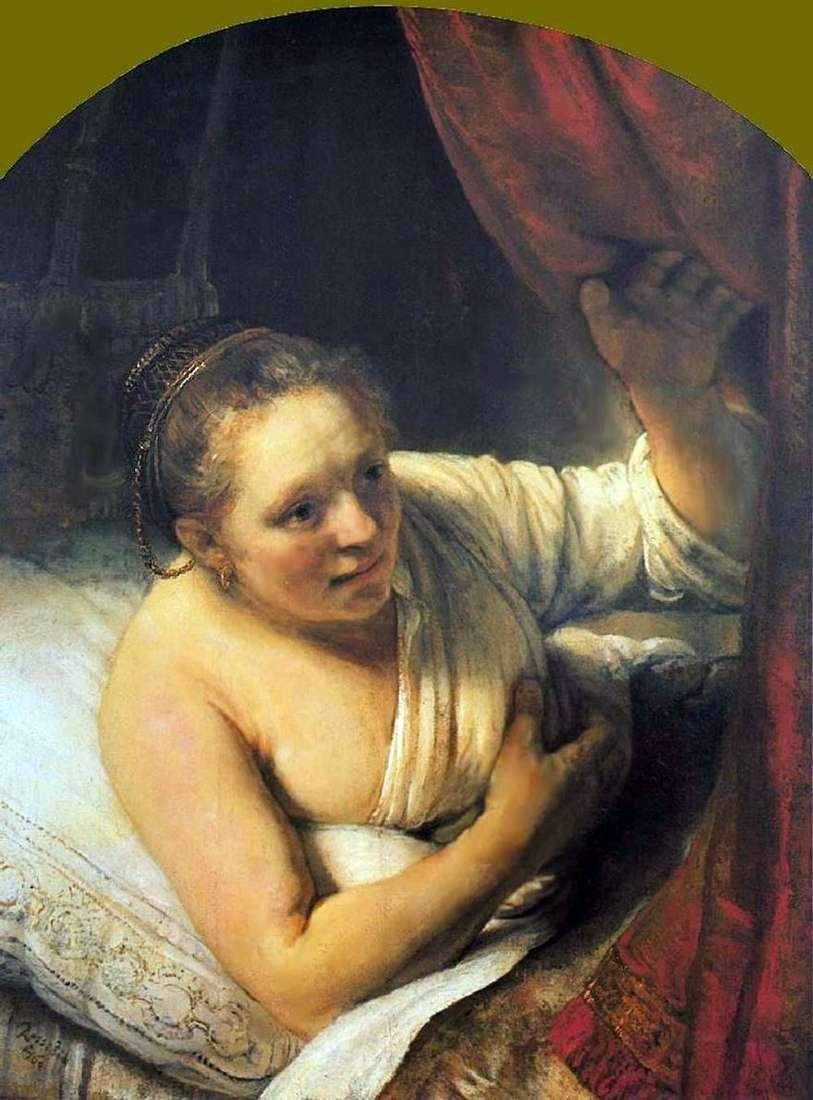 امرأة شابة في السرير   رامبرانت هارمنز فان راين