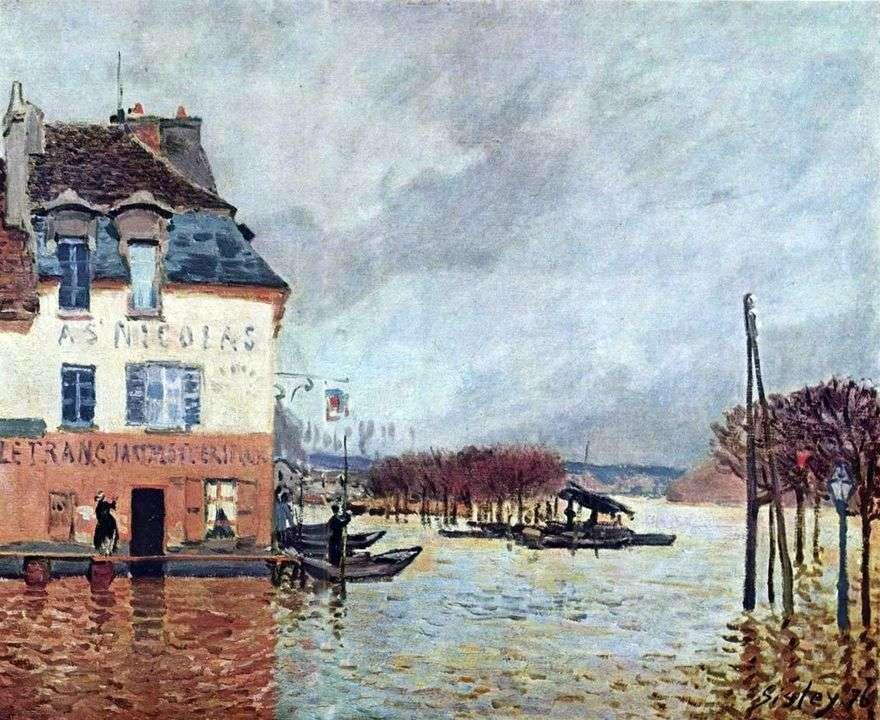 الفيضانات في بورت مارلي   ألفريد سيسلي