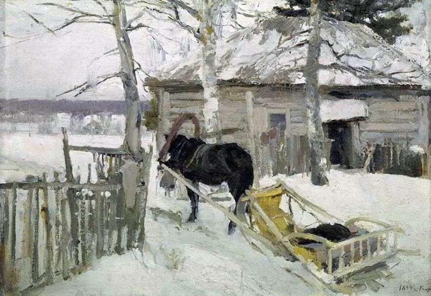في فصل الشتاء   كونستانتين كوروفين