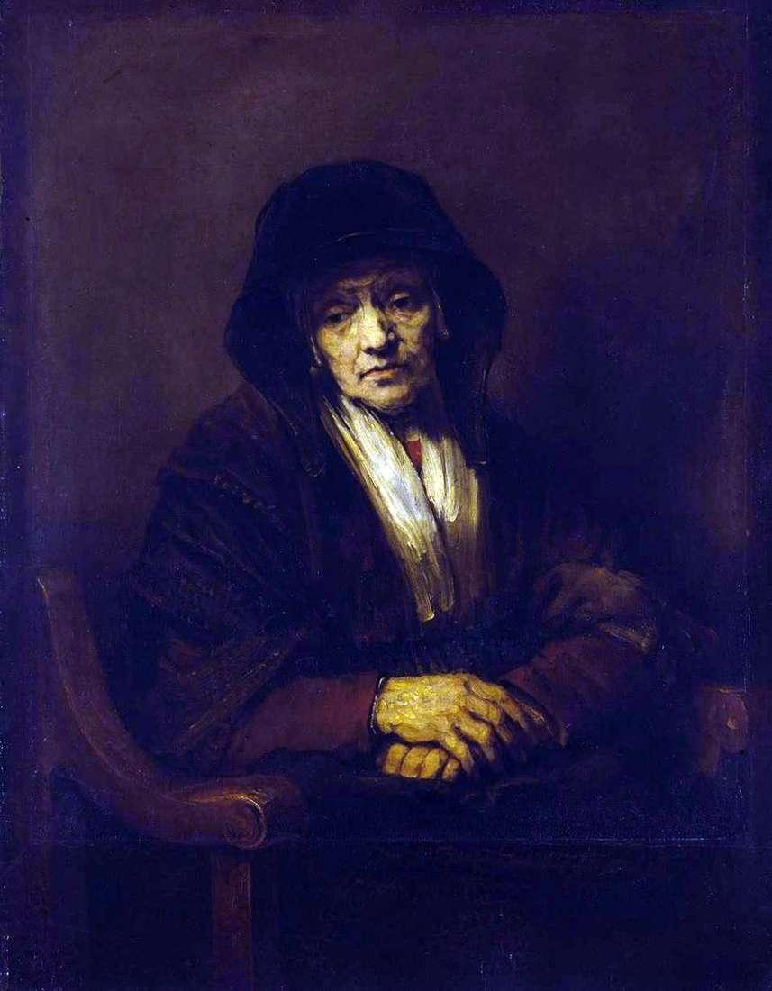 صورة لامرأة عجوز   رامبرانت هارمنز فان راين