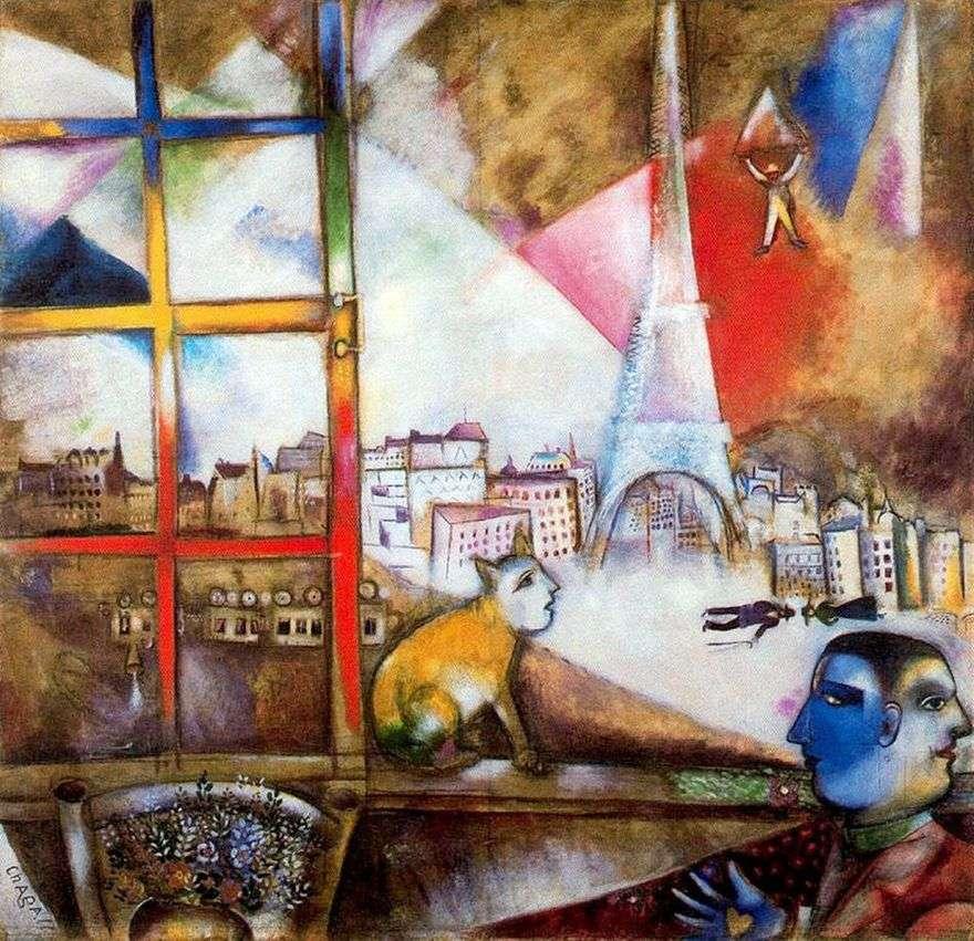 باريس من النافذة   مارك شاغال