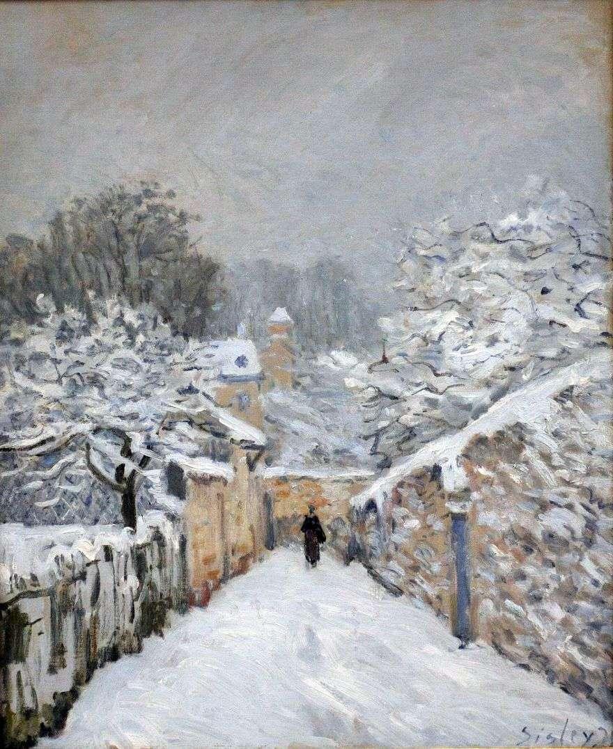 الثلوج في لوفينين   ألفريد سيسلي