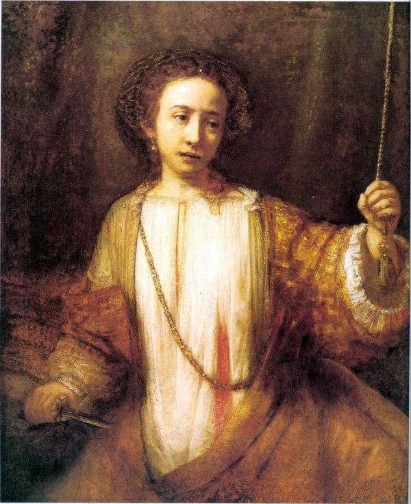 Lucretia الانتحار   رامبرانت هارمنز فان راين