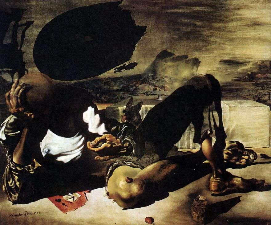 فيلسوف مضاء بواسطة القمر والشمس المعيبة   سلفادور دالي
