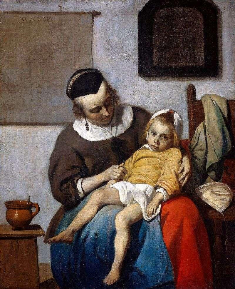 طفل مريض   غابرييل ميتسو