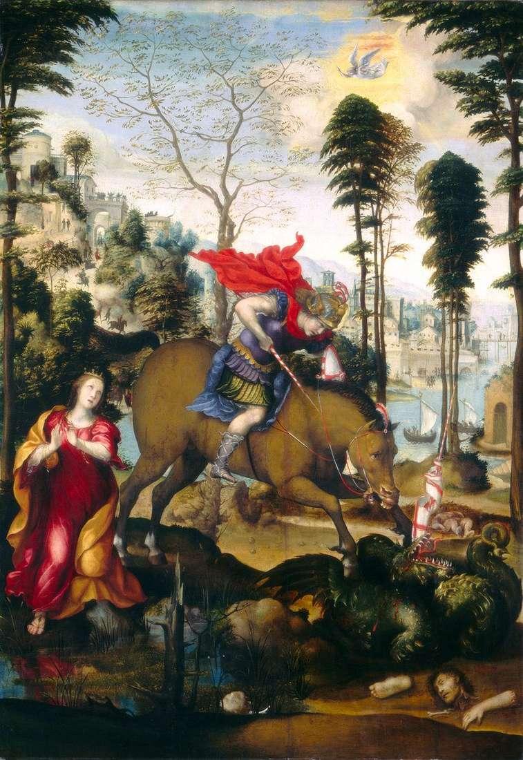القديس جورج والتنين   سدوم