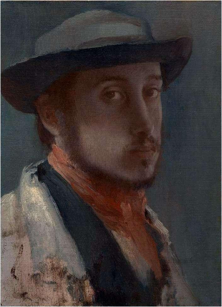 صورة ذاتية في قبعة ناعمة   إدغار ديغا