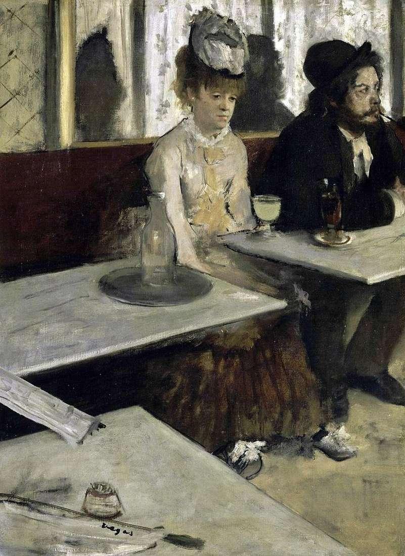 الأفسنتين الحبيب (الناس في المقهى)   إدغار ديغا