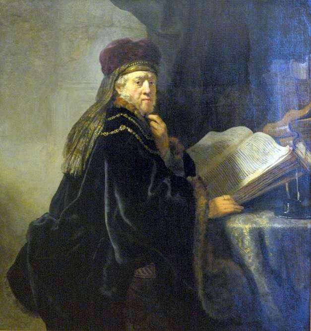 عالم في مكتب (الحاخام)   رامبرانت هارمنز فان راين