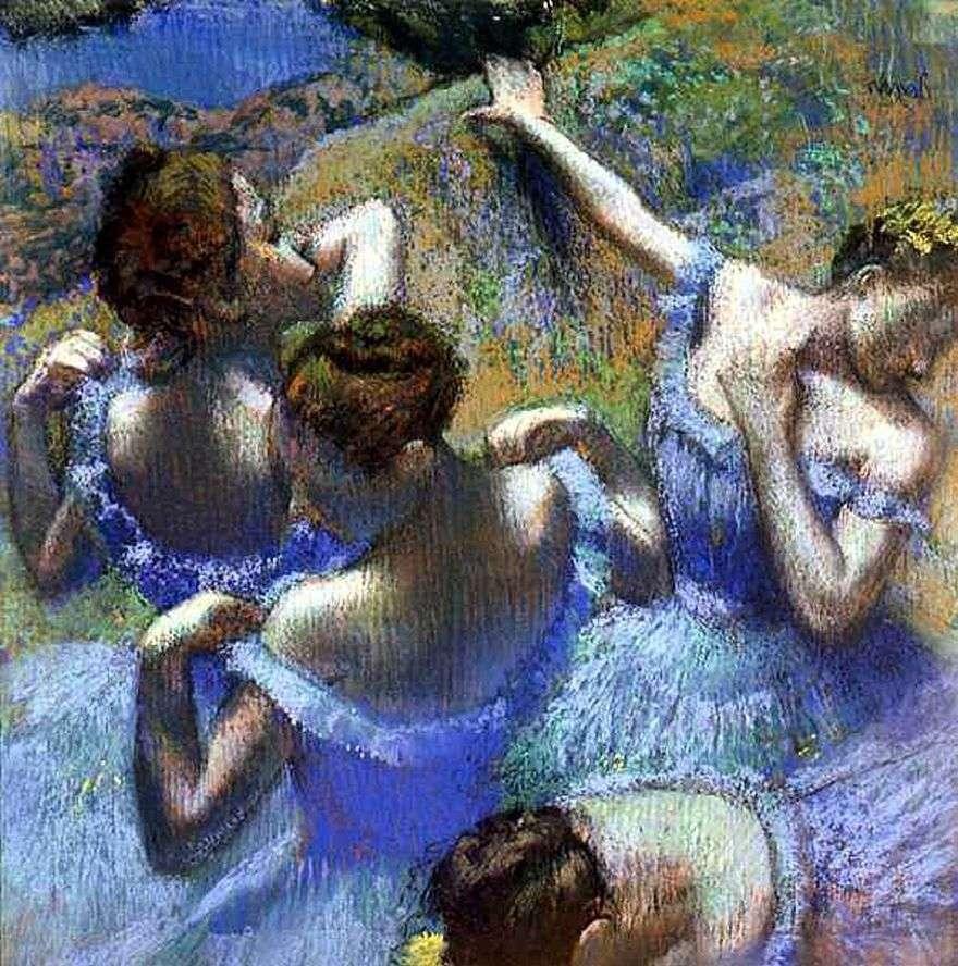 الراقصات الزرقاء   إدغار ديغا