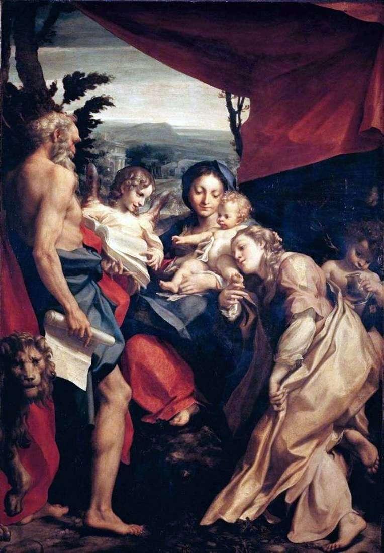 مادونا مع سانت جيروم   كوريجيو (أنطونيو أليغري)