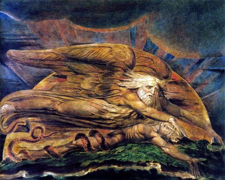 إلوهيم يخلق آدم   ويليام بليك