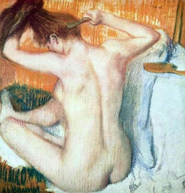 المرأة في المرحاض   إدغار ديغا