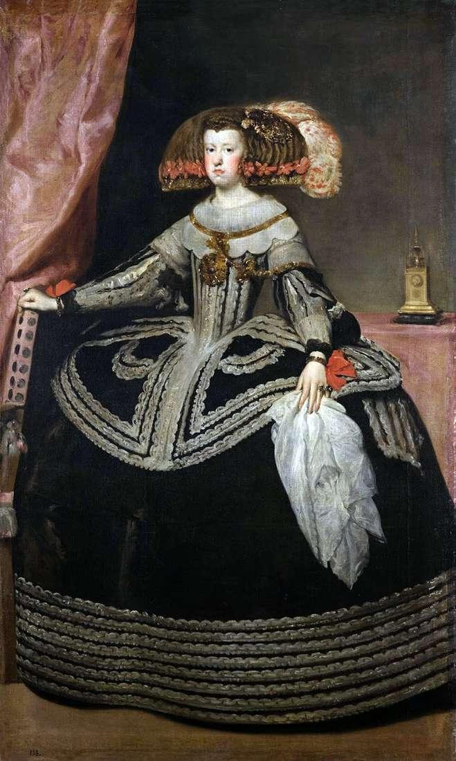 الملكة ماريا آنا ملكة النمسا   دييغو فيلاسكيز