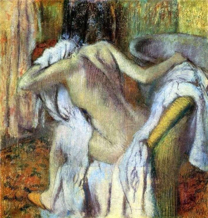 امرأة تمسح نفسها بعد الاستحمام   إدغار ديغا