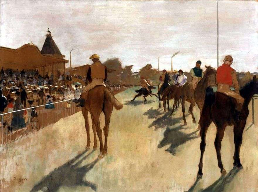 الفرسان أمام المنصة   إدغار ديغا