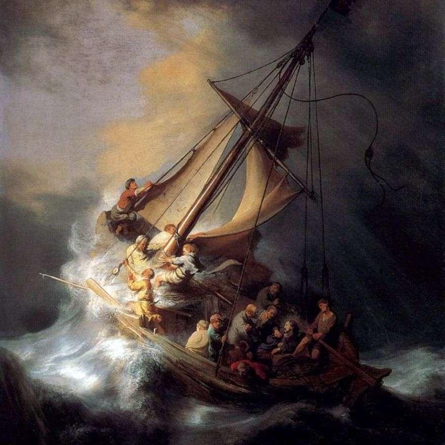 مكوك المسيح في العاصفة   رامبرانت هارمنز فان راين