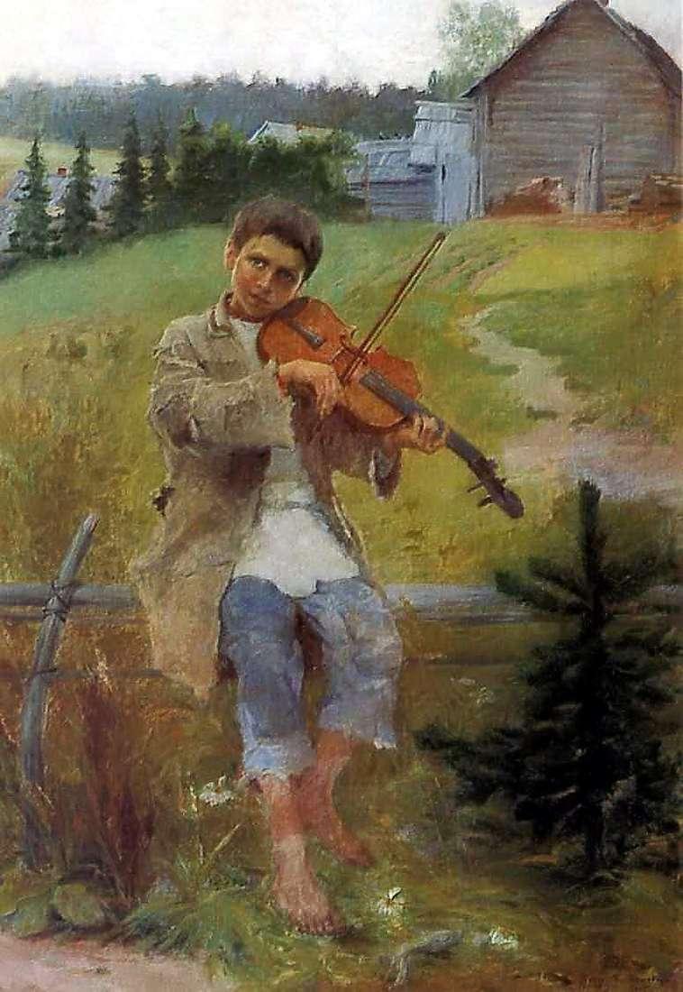صبي مع الكمان   نيكولاي بتروفيتش بوغدانوف بيلسكي