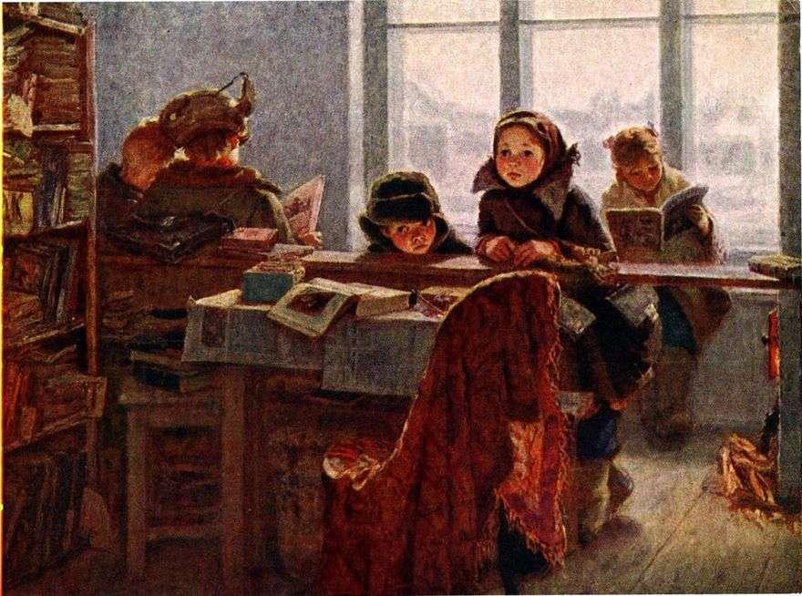 في المكتبة الريفية   إيرينا شيفاندرونوفا
