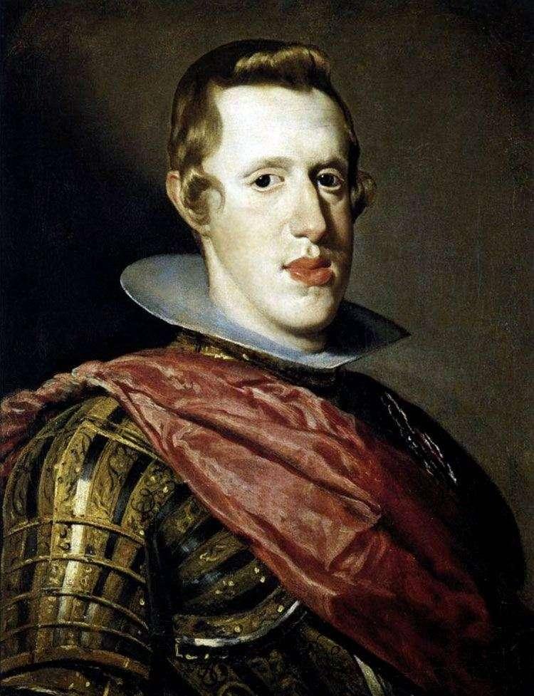 صورة لملك إسبانيا فيليب الرابع في درع   دييغو فيلاسكيز