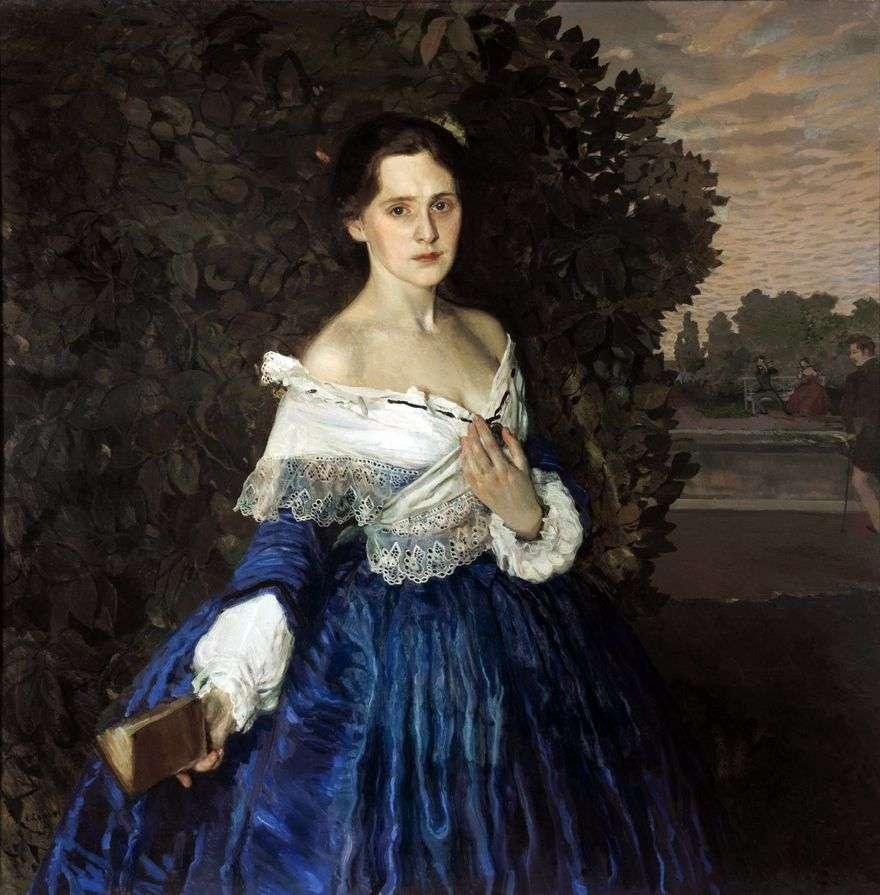 سيدة باللون الأزرق (صورة للفنان إ. مارتينوفا)   كونستانتين سوموف