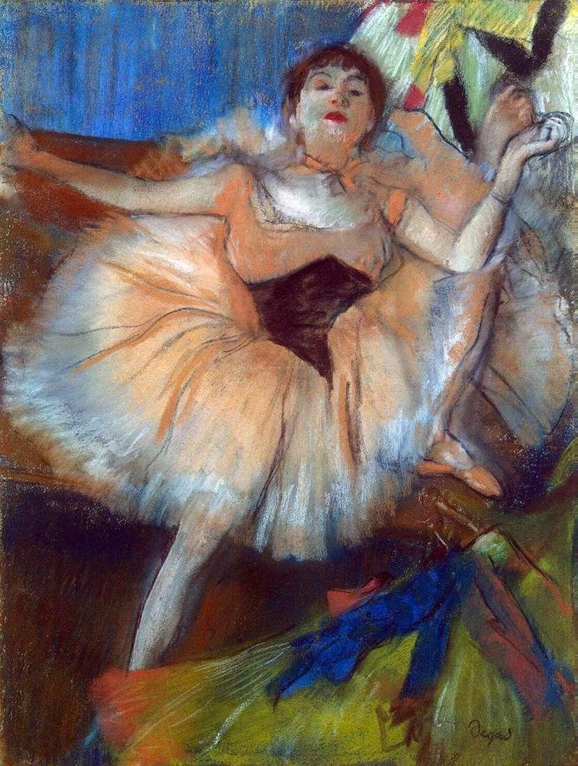 راقصة جالسة   إدغار ديغا