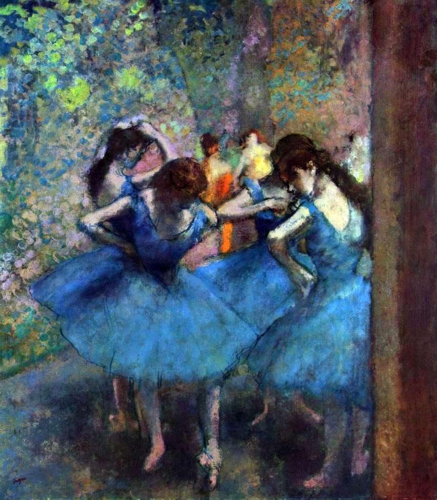 الراقصات في بروفة   إدغار ديغا