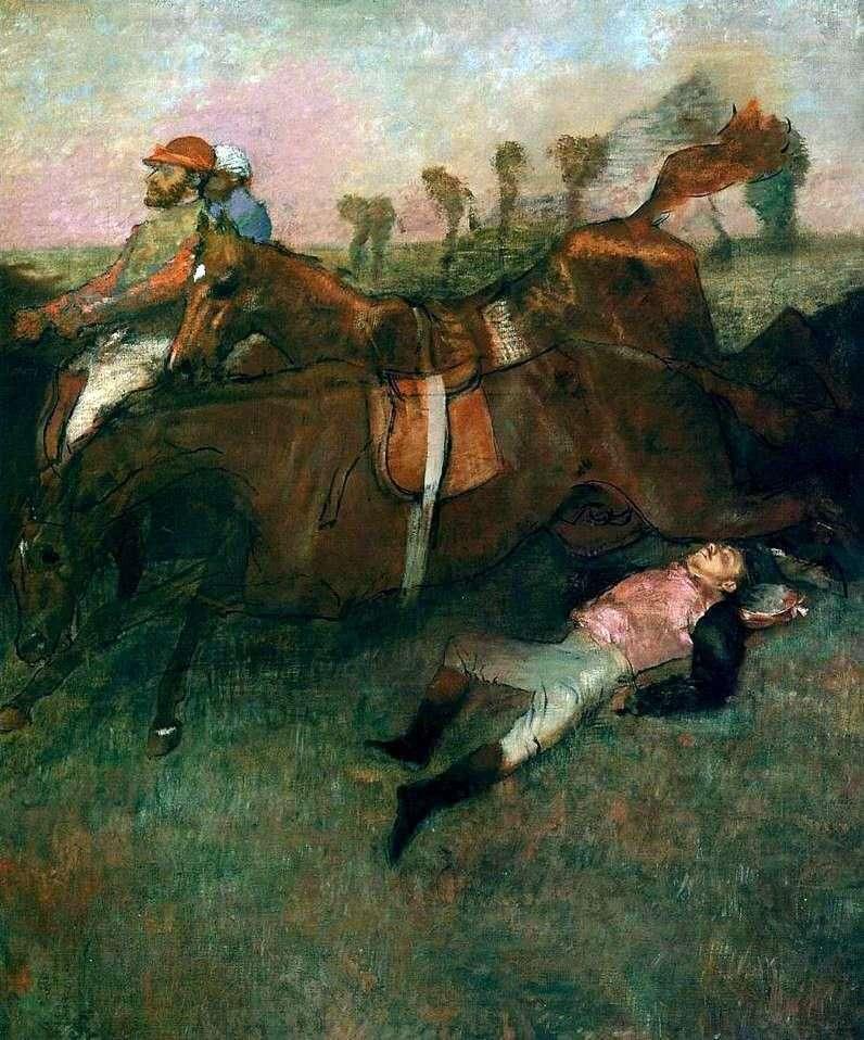 سقط الفارس   إدغار ديغا