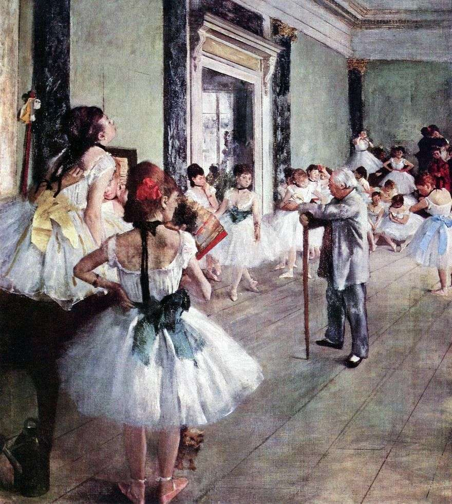 فئة الرقص (درس الرقص)   إدغار ديغا