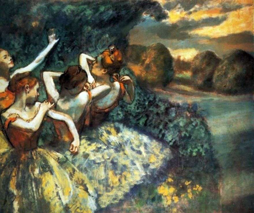 أربع راقصات   إدغار ديغا