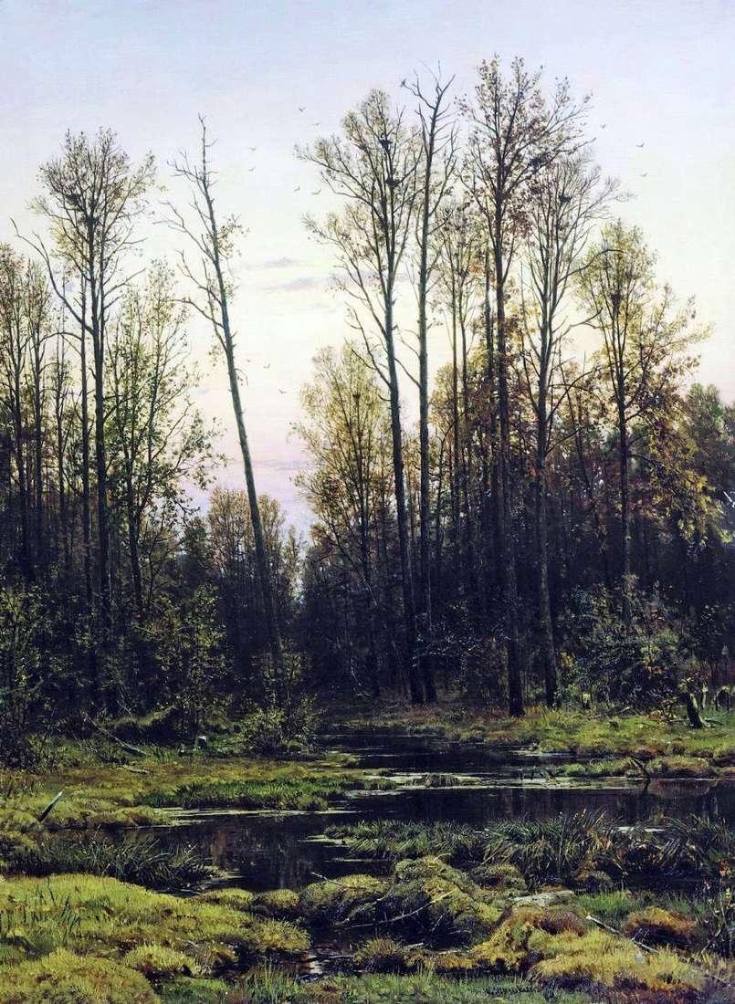الغابات في الربيع   إيفان شيشكين