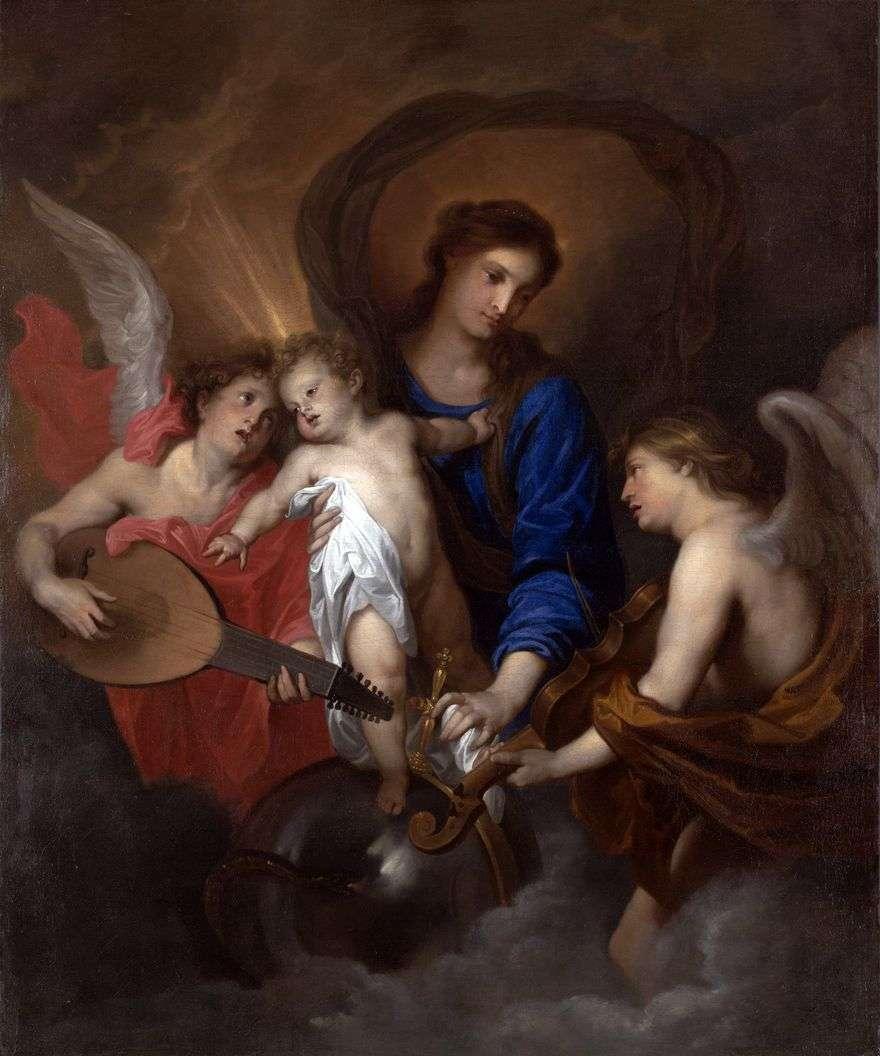 مادونا والطفل مع الملائكة   أنتوني فان دايك