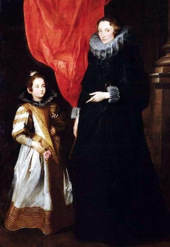 صورة لجيرونيمي بريجنول سيل مع ابنتها ماريا أوريليا   أنتوني فان دايك